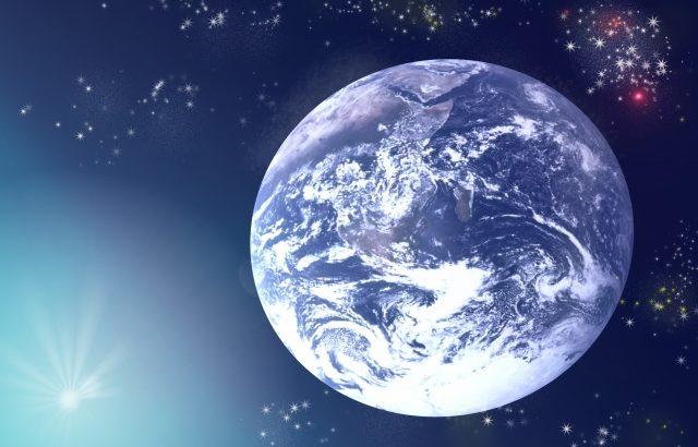 宇宙から地球を見てみる